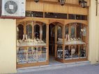 Shopping, showing shop front in Crete