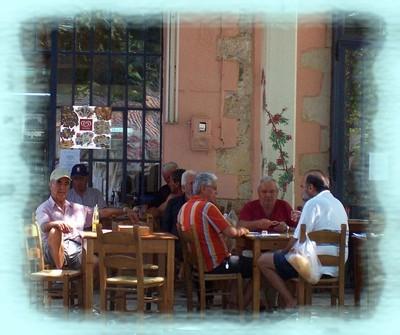 Enjoying Greek Coffee in the Morning