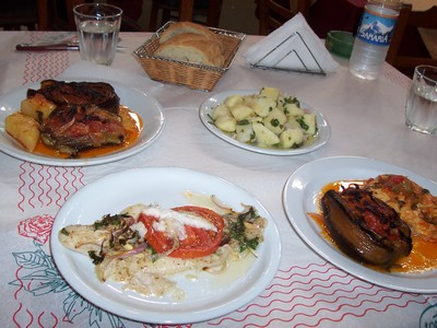 Tasty Food: various dishes from Crete