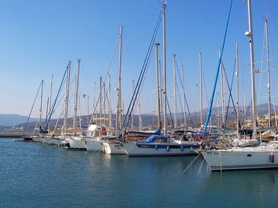 Yatchs moored at Agious Nikolaos harbour