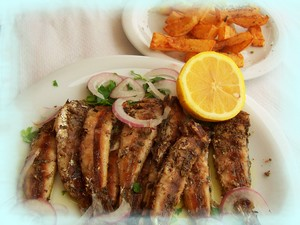 Grilled Sardines on the Cretan Diet