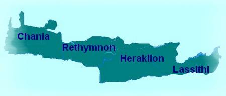 Prefectures of Crete