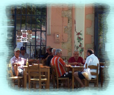 Kafeneions in Crete are mostly frequented by men
