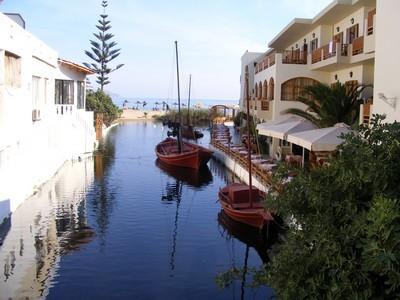 River next to Kalyves Beach Hotel
