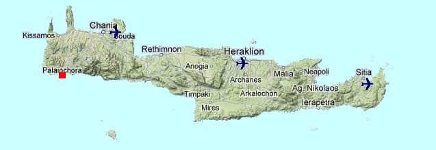 Paleochora Map