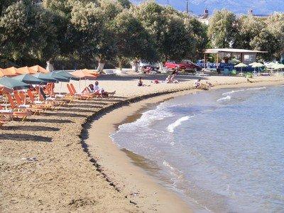 The beach at Kalyves