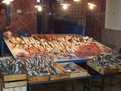 Markets: the fish market at Chania