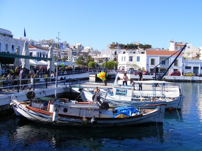 Fishing boats moored Agious Nikolaos