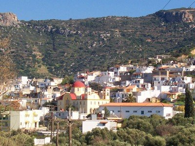 Quaint Villages showing a Cretan village on the hillside